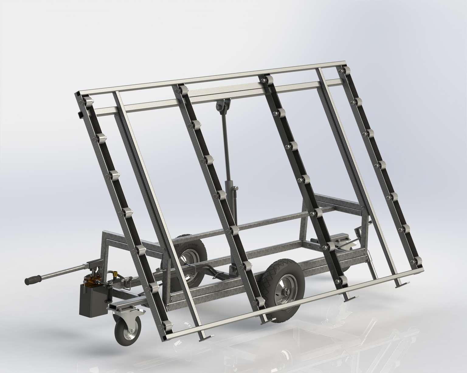 Wózek z rolkami